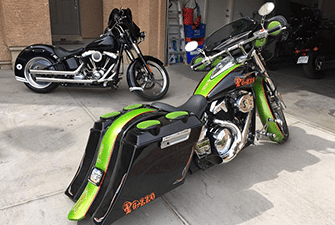 Baggers Bags Extended Stretched Saddlebags Harley
