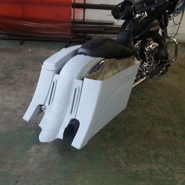 Baggers Bags Extended Stretched Saddlebags