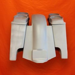 Harley-Davidson-4-inch-Extended-Stretched-Saddlebags-with-Dual-6-5-inch-Speaker-Lids-and-Replacement-Fender-09–13