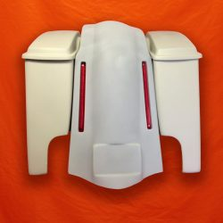 Harley-Davidson-4-inch-Extended-Stretched-Saddlebags-with-Lids-and-LED Light-Fender