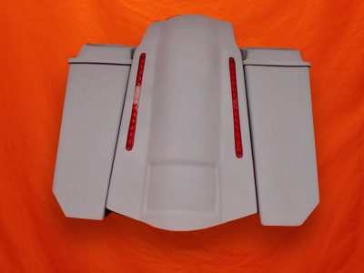Harley-Davidson-5-Extended-Stretched-Saddlebags-NO-CutOuts-6x9-Speaker-Lids-and-LED-Fender
