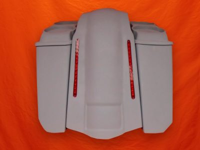 Harley-Davidson-5-Extended-Stretched-Saddlebags-NO-CutOuts-Dual-6-5-inch-Speaker-Lids-and-LED-Fender