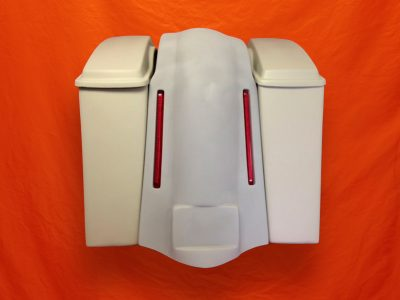 Harley-Davidson-6-Stretched-Saddlebags-With-Standard-Lids-No-Cut-Outs-LED-Lights-Fender