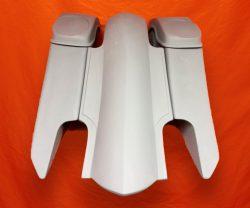 Harley-Davidson-6-Trendsetter-Extended-Saddlebag-Fender-Kit-Dual-Cut-Outs-6x9-Speaker-Lids-2014-2