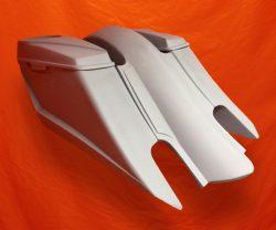 Harley-Davidson-6-Trendsetter-Extended-Saddlebag-Fender-Kit-Dual-Cut-Outs-6x9-Speaker-Lids-2014