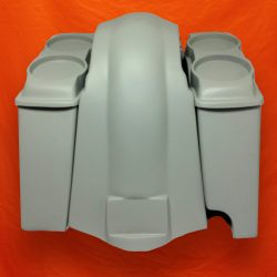 Harley-Davidson 6-inch-Extended Stretched-Saddlebags-Right-CutOut-Dual-6-5-inch-Speaker-Lids-and-Fender