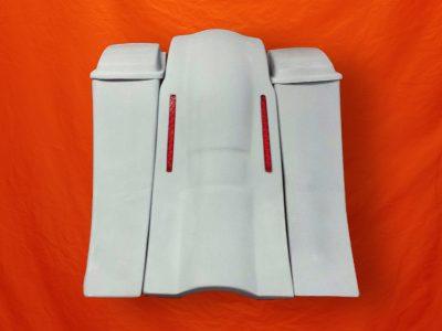 Harley-Davidson-8-Extended-Stretched-Saddlevags-no-CutOuts-Standard-Lids-LED-Fender