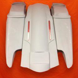 Harley-Davidson-Fifty-Five-Extended-Stretched-Saddlebag-Dual-CutOuts-6-5-inch-Speaker-Lids-LED-Fender-Kit