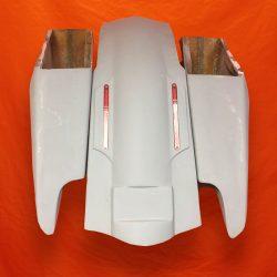 Harley-Davidson-Fifty-Five-Extended-Stretched-Saddlebags-NO-Lids-LED-Fender-Kit