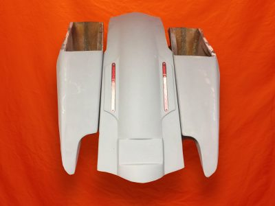 Harley-Davidson-Fifty-Five-Extended-Stretched-Saddlebags-NO-Lids-LED-Fender-Kit