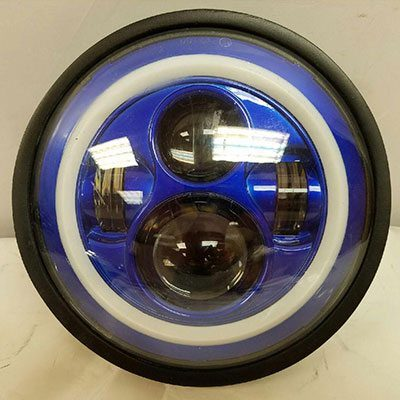 7 Daymaker Kawasaki Vulcan Nomad 800 Blue With Blue Halo Hid Led