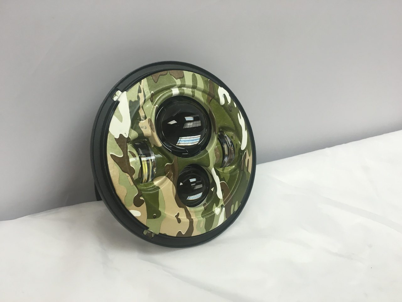 Led Light Bulbs For Harley Davidson Motorcycles : Quot daymaker replacement camo design projector hid led