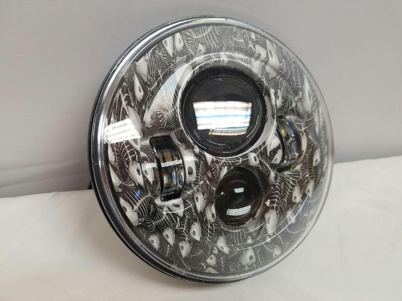 Img on bright led motorcycle headlight