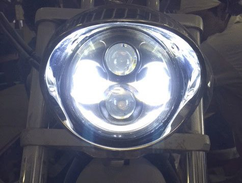 honda vtx        daymaker black hid led light bulb headlight motorcycle