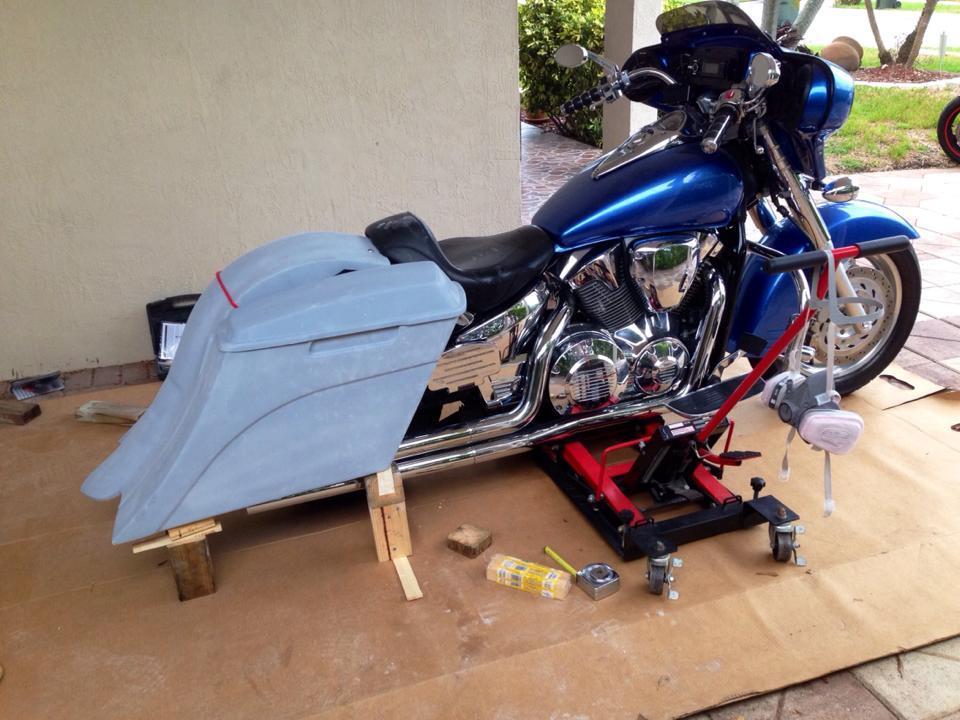 Vtx 1300 Bags: Quick Detachable Hard Saddlebags For Honda
