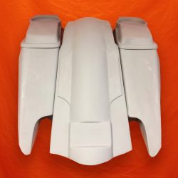 Harley-Davidson-Fifty-Five-Extended-Stretched-Saddlebag-Dual-CutOuts-6x9-Speaker-Lids-Fender-Kit