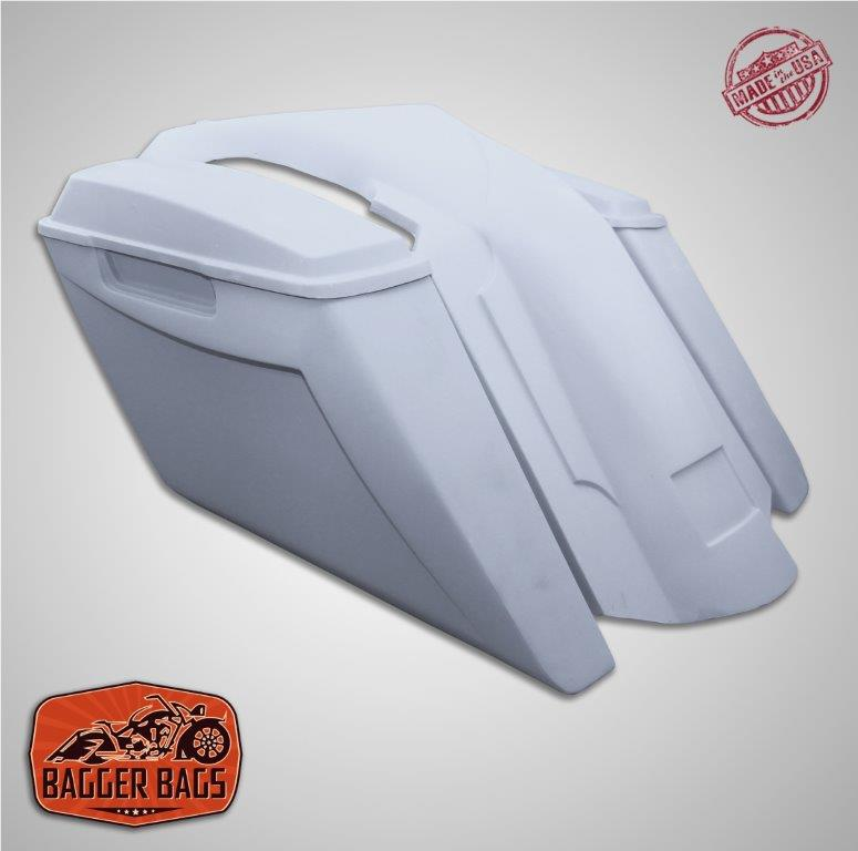 Suzuki M109R Fifty Five Extended Stretched Saddlebags Fender NoCutOut & Lids