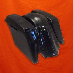 Painted-Vivid-Black-Bagger-Kit-with-Lids