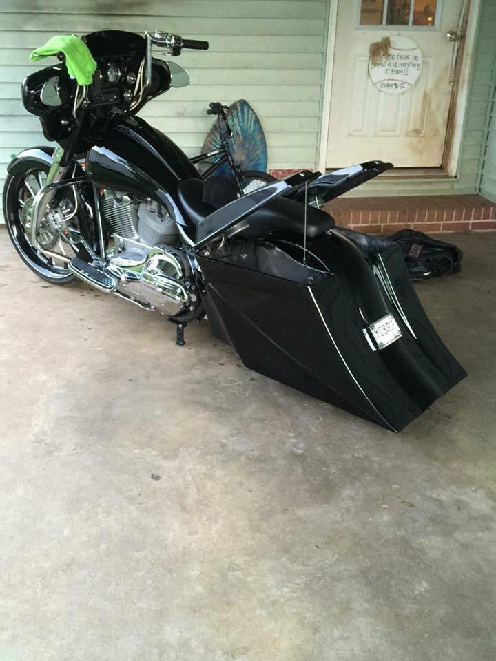 """2018 Harley Davidson Road Glide >> 8"""" Stealth Kit for Harley Softail and Touring Bagger Kit – Baggers Bags – Extended Stretched ..."""